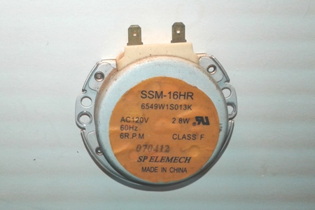 Microwave Turntable Motor SSM-16HR 6549W1S013K