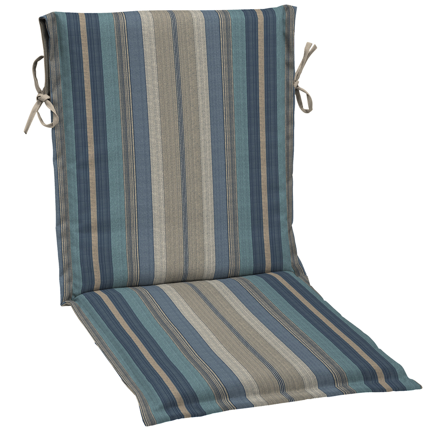 Padded Chair Cushion Stripe Blue