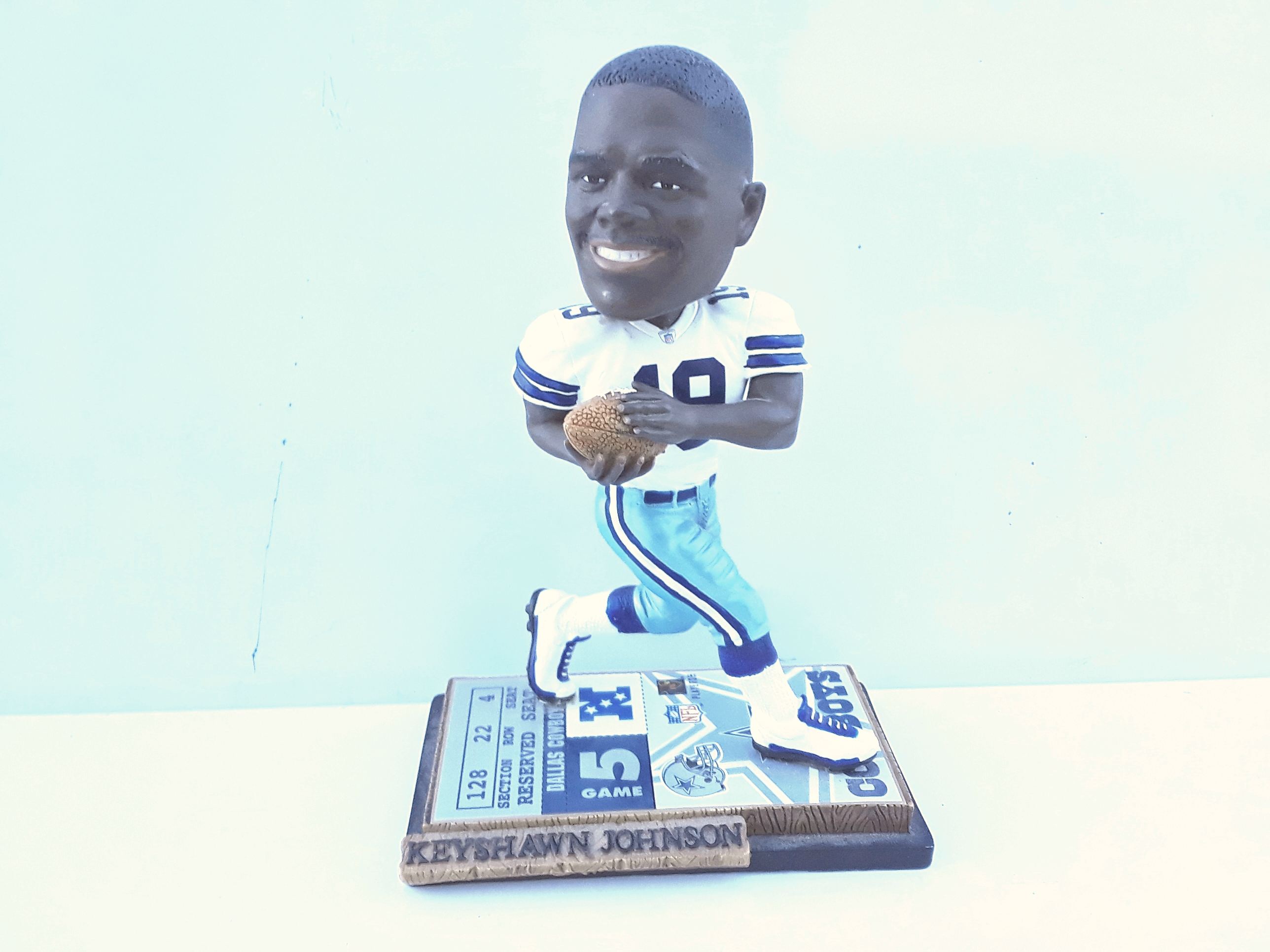 Keyshawn Johnson NFL Cowboys bobblehead Statute
