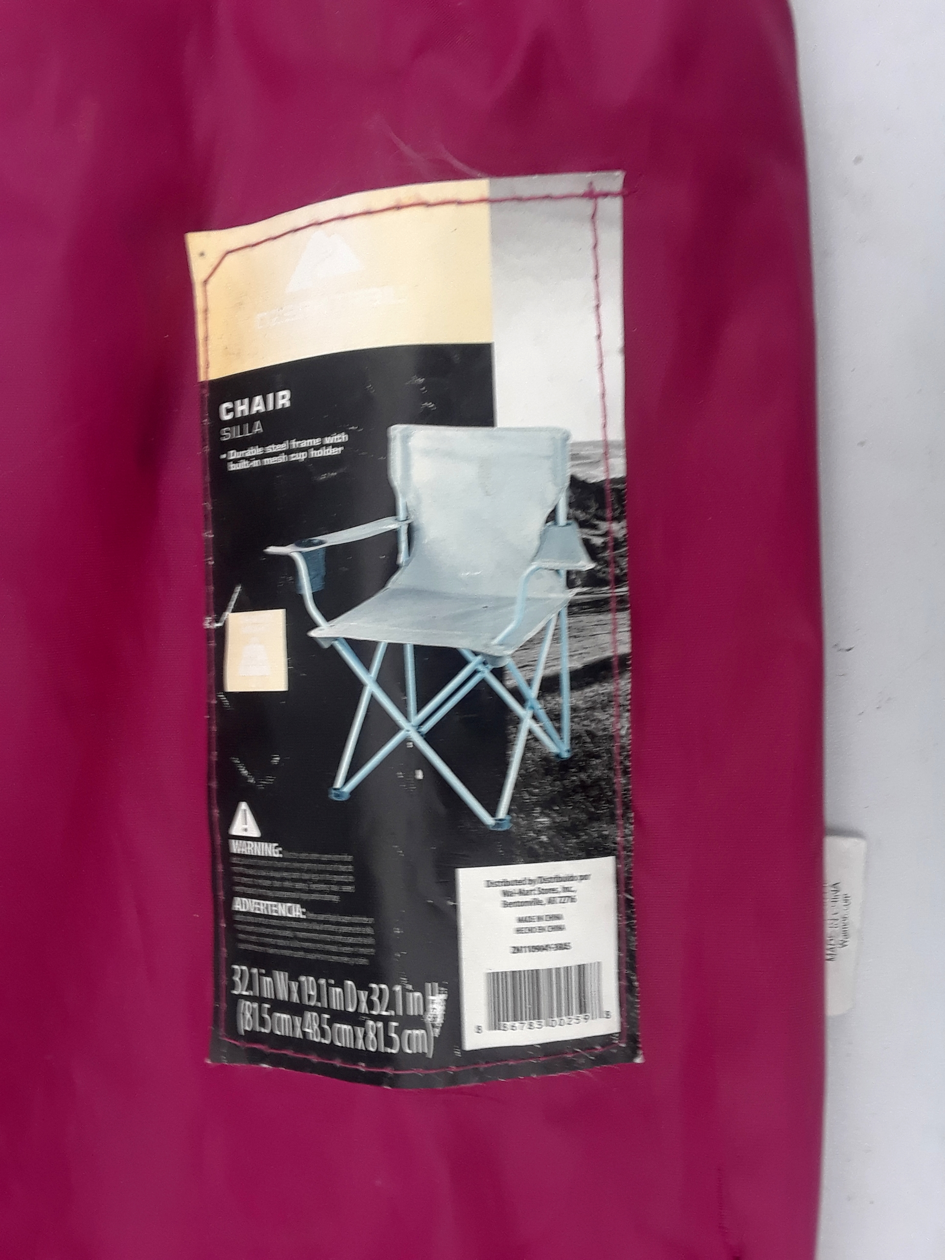 Pink bag for Folding Chair