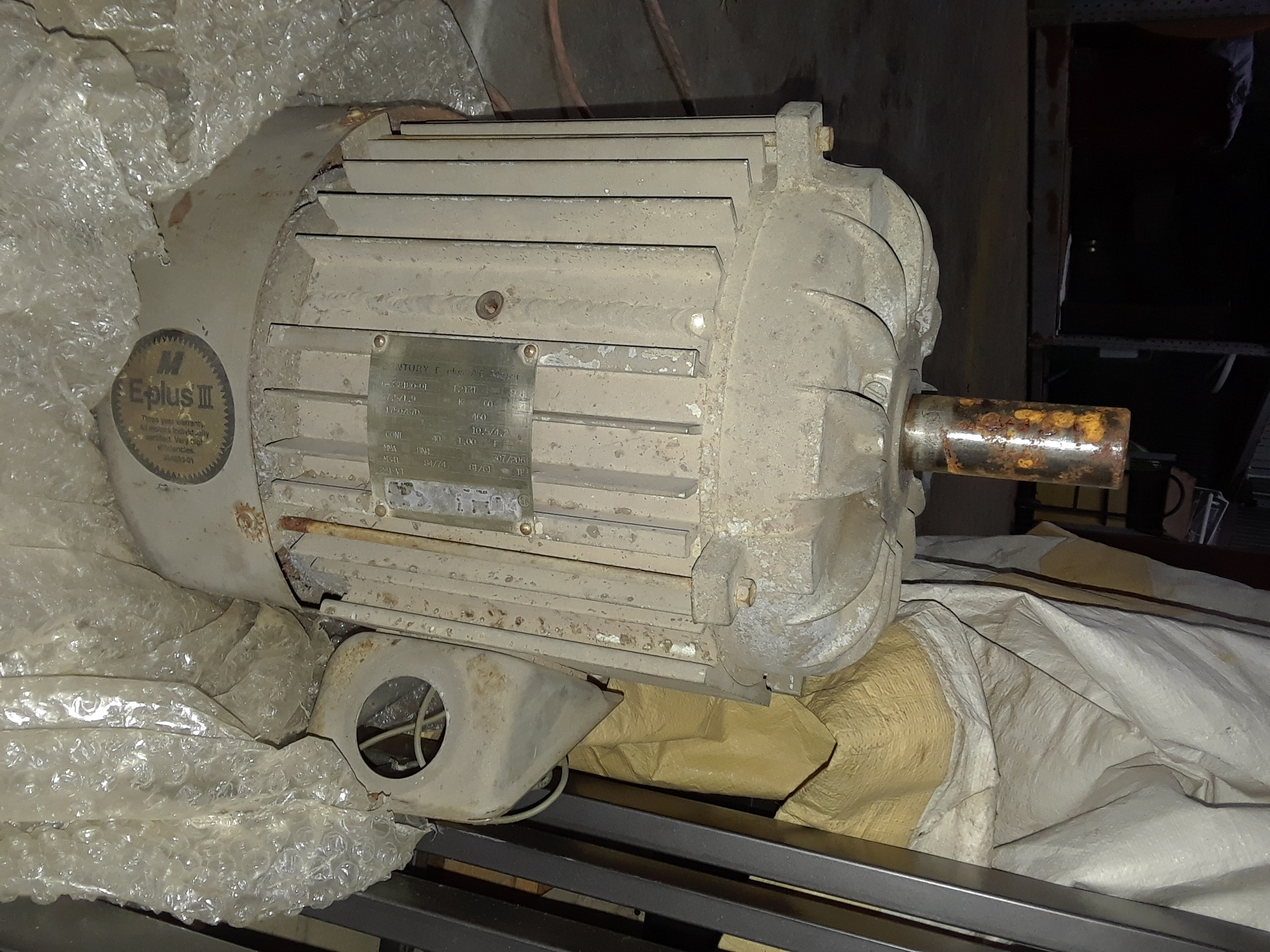 Century 7.5 HP F213T Frame Motor 1750 Rpm 3 Phase 460 Volts