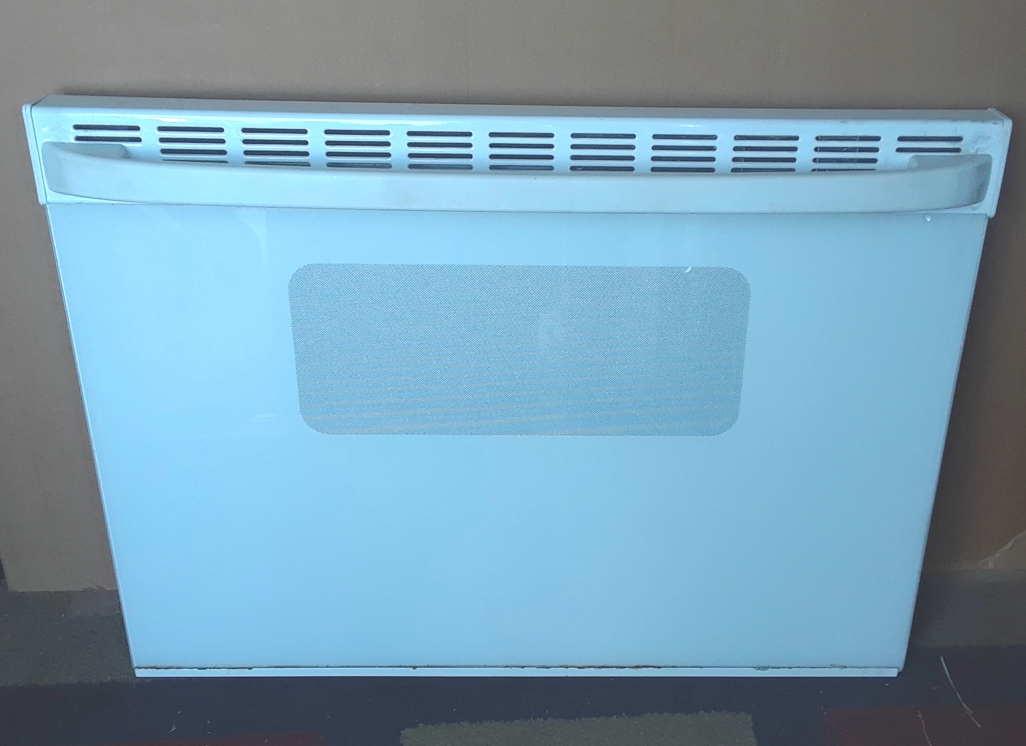 White Glass Door Assembly GE Range RB787WC4WW
