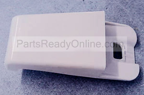"Whirlpool End Cap Refrigerator Door Shelf Endcap 2195915 (5"" long, fits 1.75"" bar) for models ET8WTKXKQ03, ET18NKXFW00, etc"