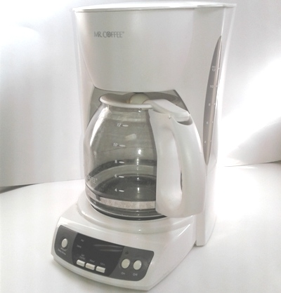 MR COFFEE White 12-Cup Programmable Coffee Maker
