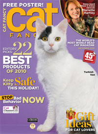Cat Fancy Magazine December 2010 Issue with 2011 Cat Calendar NEW