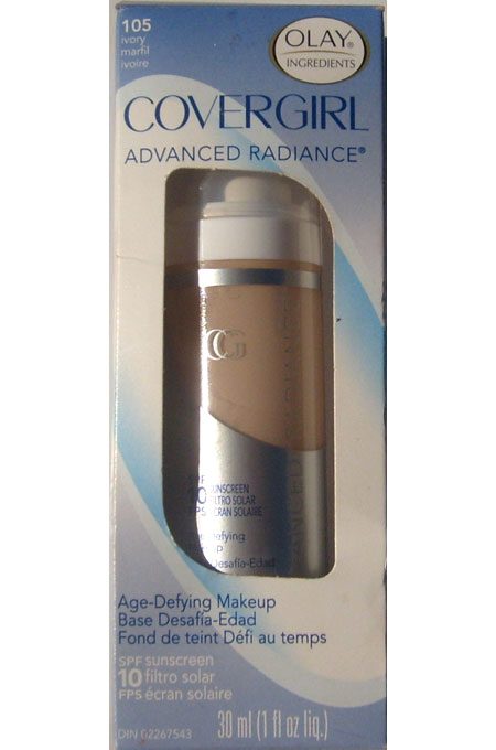 Olay Covergirl Advanced Radiance Age-Defying Makeup 105 Ivory SPF 10 Sunscreen (30 ml /1 oz liq)