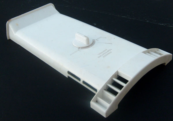 OUT OF STOCK $17.00 Frigidaire Refrigerator Evaporator Fan Cover 218672501 with Damper Knob and Damper 2187222