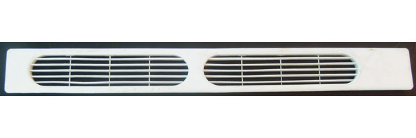 "Kenmore Refrigerator Kickplate Grille 240368301 2403683 white 25.75"" Long"