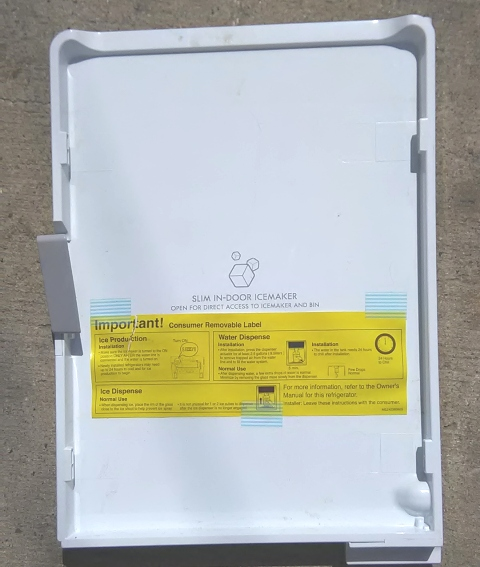 Refrigerator ice room door assembly  ADC72987113