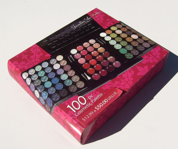 OUT OF STOCK $10 Jasmine La Belle 100-pc Cosmetic Pallete -72 Eyeshadows, 24 Lip Glosses, 2 Applicators, 2 Lip Brushes