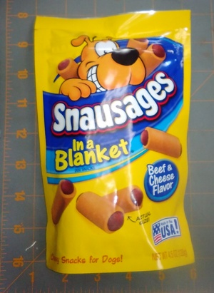 Snausages in a Blanket Dog Snacks Beef and Cheese Flavor