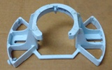 White Ceiling Fan Mounting Bracket