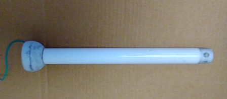 Ceiling Fan Downrod with Ball 12 inches WHITE