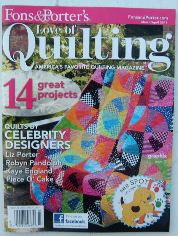 Love of Quilting Americas Favorite Quilting Magazine March/April 2011