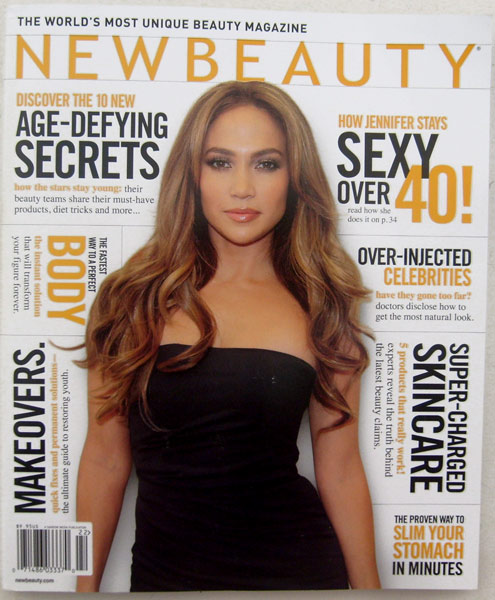 New Beauty Magazine Spring-Summer 2011 Vol 7 Issue 2 -how Jennifer Lopez stays sexy over 40, age-defying secrets