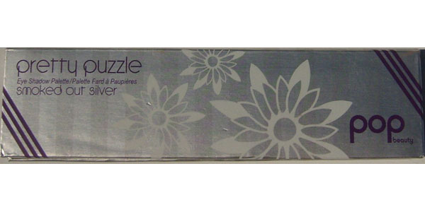 Pop Beauty Pretty Puzzle Eye Shadow Palette 12 pigments Smoked Out Silver 6.52 g / 0.23 oz
