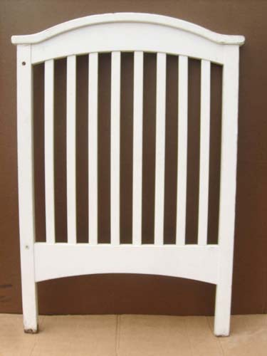 White Arched Crib Footboard