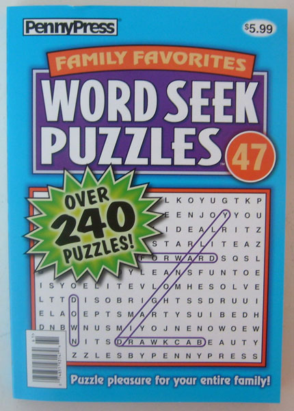 Family Favorites Word Seek Puzzles PennyPress Over 240 Puzzles (No. 47 Dec 2010)