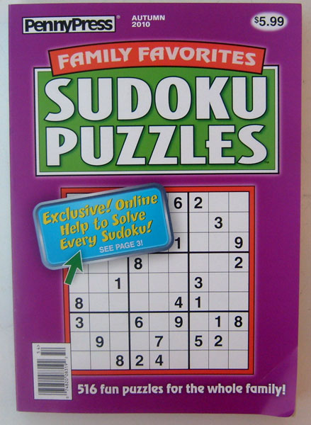 PennyPress Penny Press Sudoku Puzzles Issue 23 Over 510 Sudoku Puzzles