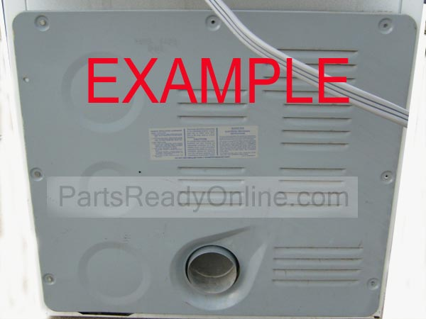 "Dryer Rear Panel Whirlpool, Roper, Kenmore Dryer Back Cover 28"" x 24-1/2"""