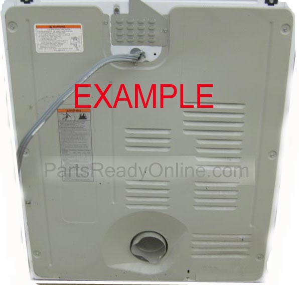 "Dryer Rear Panel Whirlpool, Roper, Kenmore Dryer Back Cover 28"" W x 32"" H from Whirlpool Model LER4634EQ0"