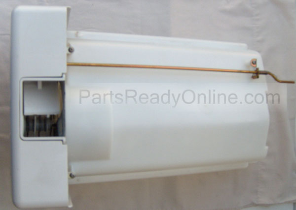 Frigidaire Ice Container Assembly with Ice Auger, Ice Bucket, Ice Dispenser Drum, Drive Blade, Control Rod, etc.