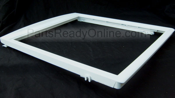 Frigidaire Refrigerator Shelf Frame 19.5-inch Cover with Tracks for Humidity Controlled Crisper Pan