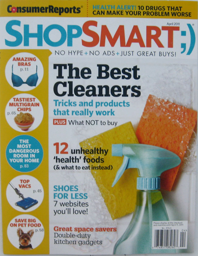 Consumer Reports Shop Smart ;) Magazine April 2011