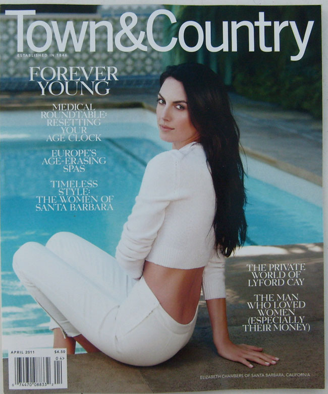 Town & Country Magazine April 2011 -Age rountable, Spanish spa, Santa Barbara, Lyford Cay