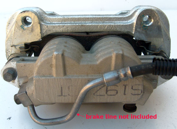 Ford Brake Caliper with Brake Pads S197 GT 1985-93 Mustang 5.0L TRW 0065-0 7R33-2B118-B 4 M OS (right)