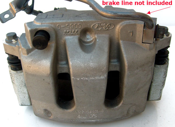S197 GT Ford Brake Caliper with Brake Pads 1985-93 Mustang 5.0L TRW 0065-0 7R33-2B119-B 4 J OS (left)