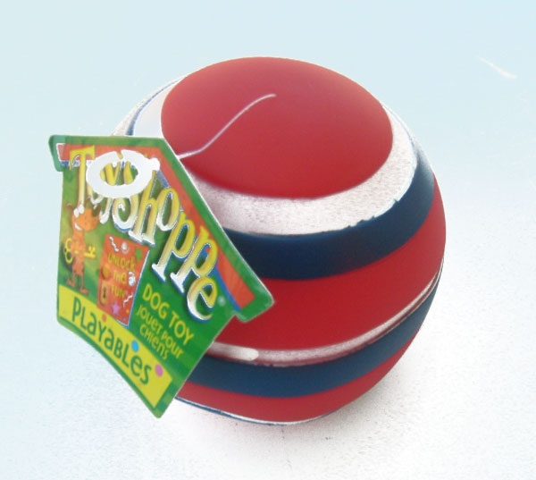 ToyShoppe Doggie Ball Dog Rubber Toy Squeaks