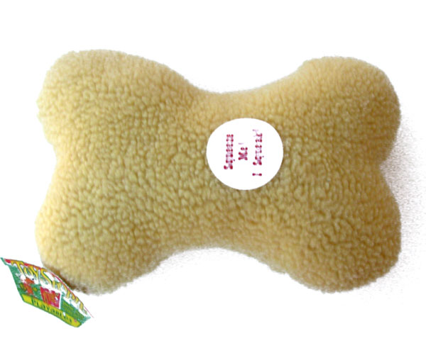 OUT OF STOCK $5 Squeaky Dog Toy Plush Toy Bone by Toy Shoppe