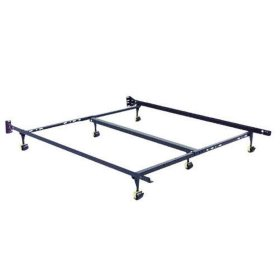 King Size Bed Frame on Rollers with Center Support