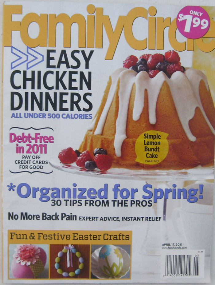 Family Circle Magazine APRIL 17, 2011