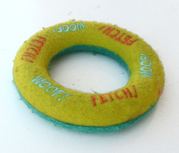 "Fetch Ring Hard Dog Toy 5"" Durable, Heavy"