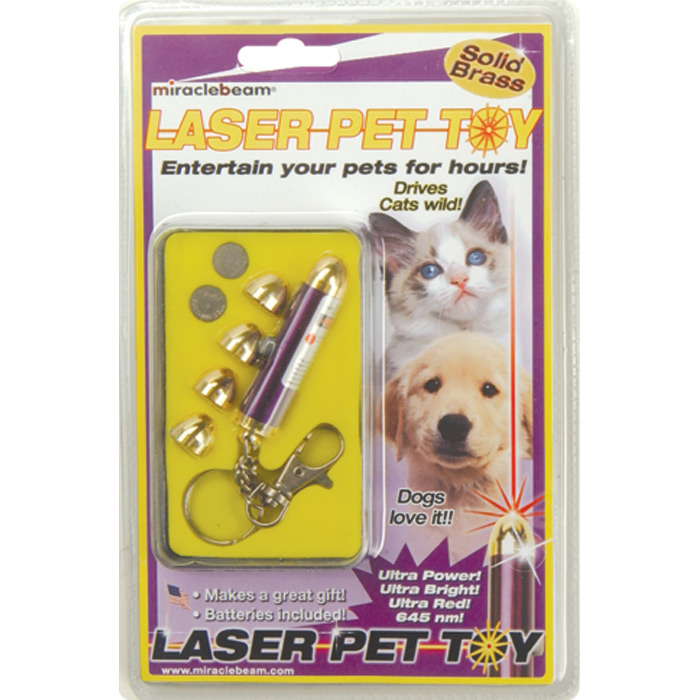OUT OF STOCK Laser Pet Toy for Dogs Cats Birds Fish with 5 Tips and Batteries (solid brass)