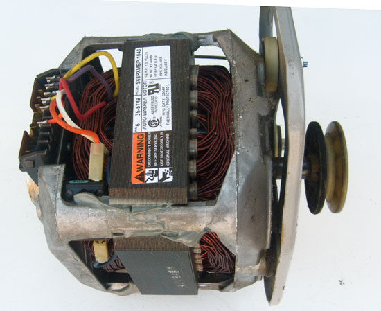 Maytag Washer Motor 35-5749 (21001750, 21001950) with Pulley 2-Speed 1/2 HP 1725/1140 RPM