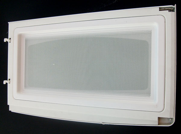 "OUT OF STOCK $50 GE Microwave Door Assembly WB56X10723 white (model JNM1731DMWW01) 23"" x 13 3/8"""