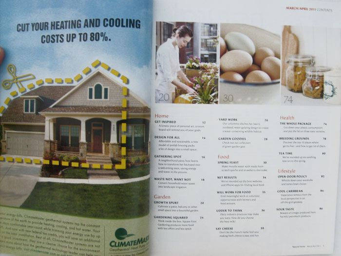 Natural Home March/April 2011 The Gardening Issue