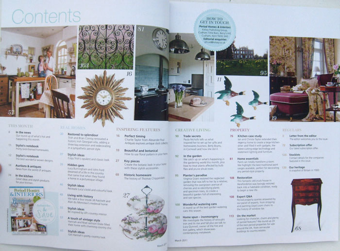 Period Homes & Interiors March 2011 Beautiful Interiors and Clever Ideas for Homes with Character (printed in UK)