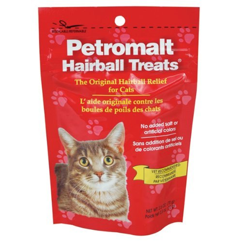 Petromalt Hairball Treat - 2.5 oz Hairball Relief for Cats