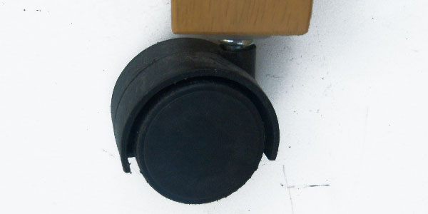 Crib Roller Caster Wheel -BLACK 1.5 inch Diameter
