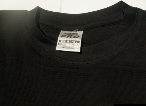 3XL Mens Black T-Shirt with Short Sleeves Round Neck, Big and Tall Heavy Weight, 100% Cotton BRAND NEW NEW