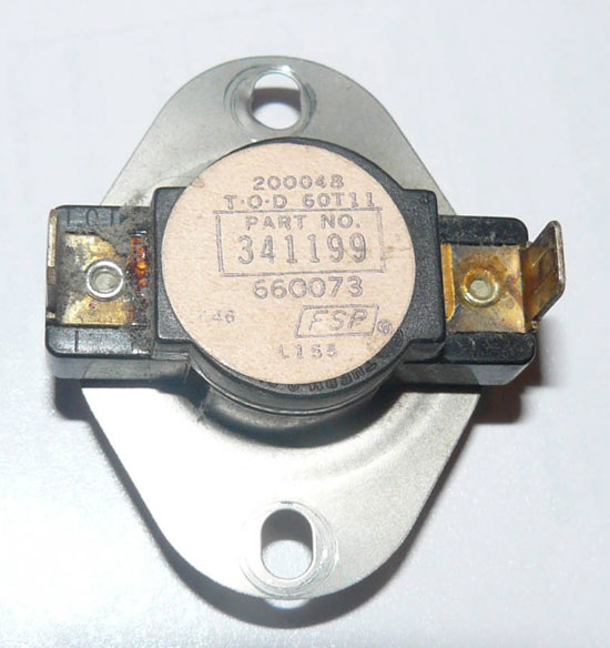 Kenmore Whirlpool Dryer Thermostat 341199, 694674, 660073 (L155-20F)