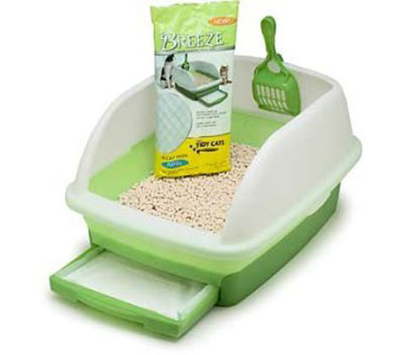 "OUT OF STOCK Tidy Cats Breeze Litter Box with Scoop, Tray and Odor Pads 20""L x 15""W x 11""H"