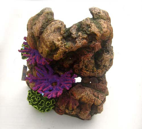 Top Fin Aquarium Oranament Large Coral Rock with Plants