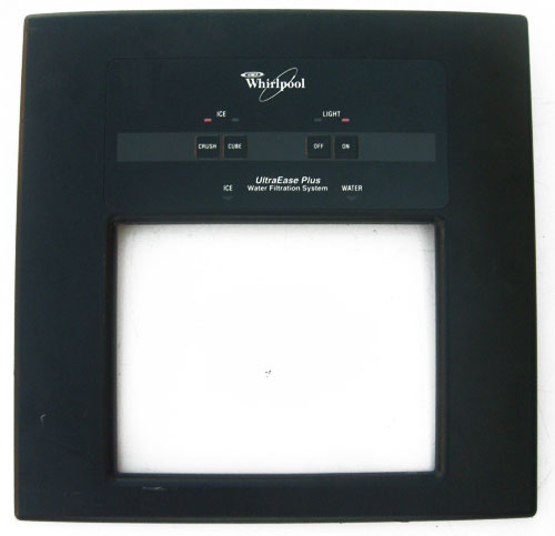 OUT OF STOCK $50 Whirlpool Ice Dispenser Cover 2174193 BLACK with Dispenser Switch 2180279