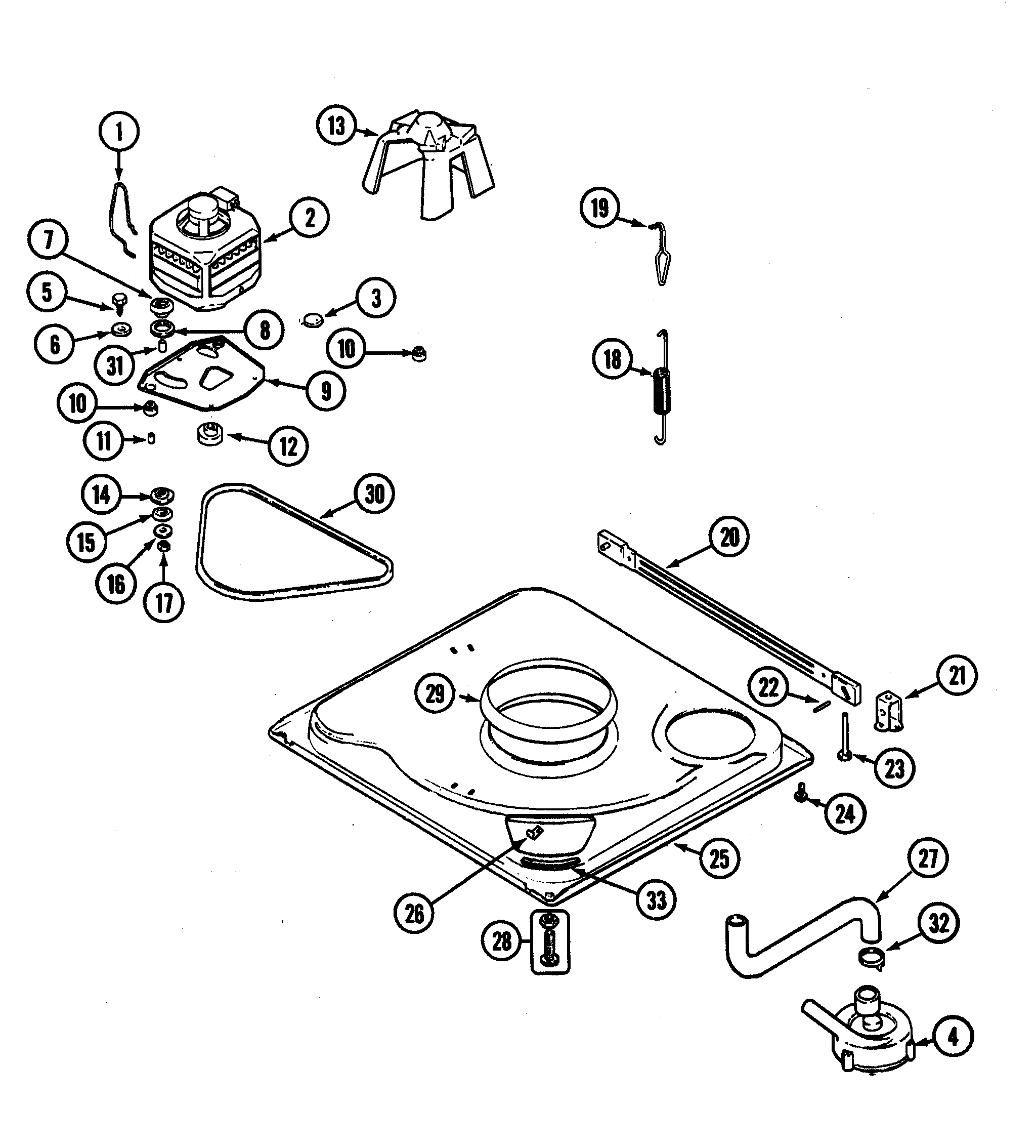 Top And Console Parts Diagram And Parts List For Maytag Dryerparts