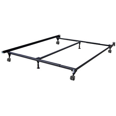 King Size Bed Frame on Rollers with Center Support LOCAL PICKUP in Fort Worth TX